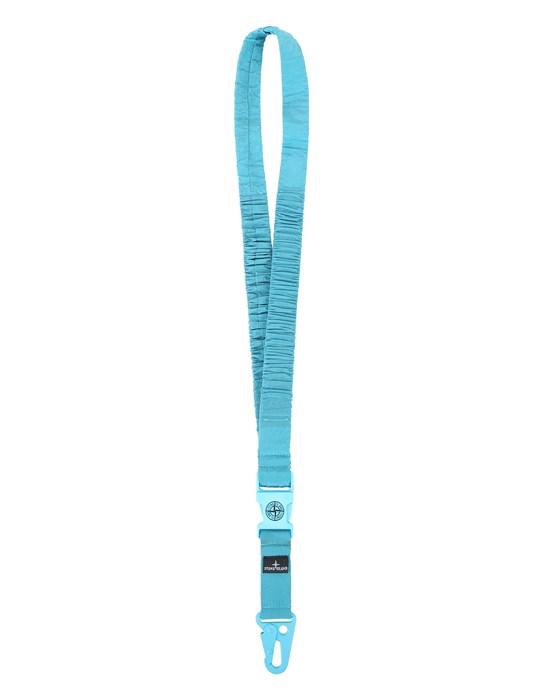 STONE ISLAND 95176 NYLON METAL  LANYARD Man Turquoise