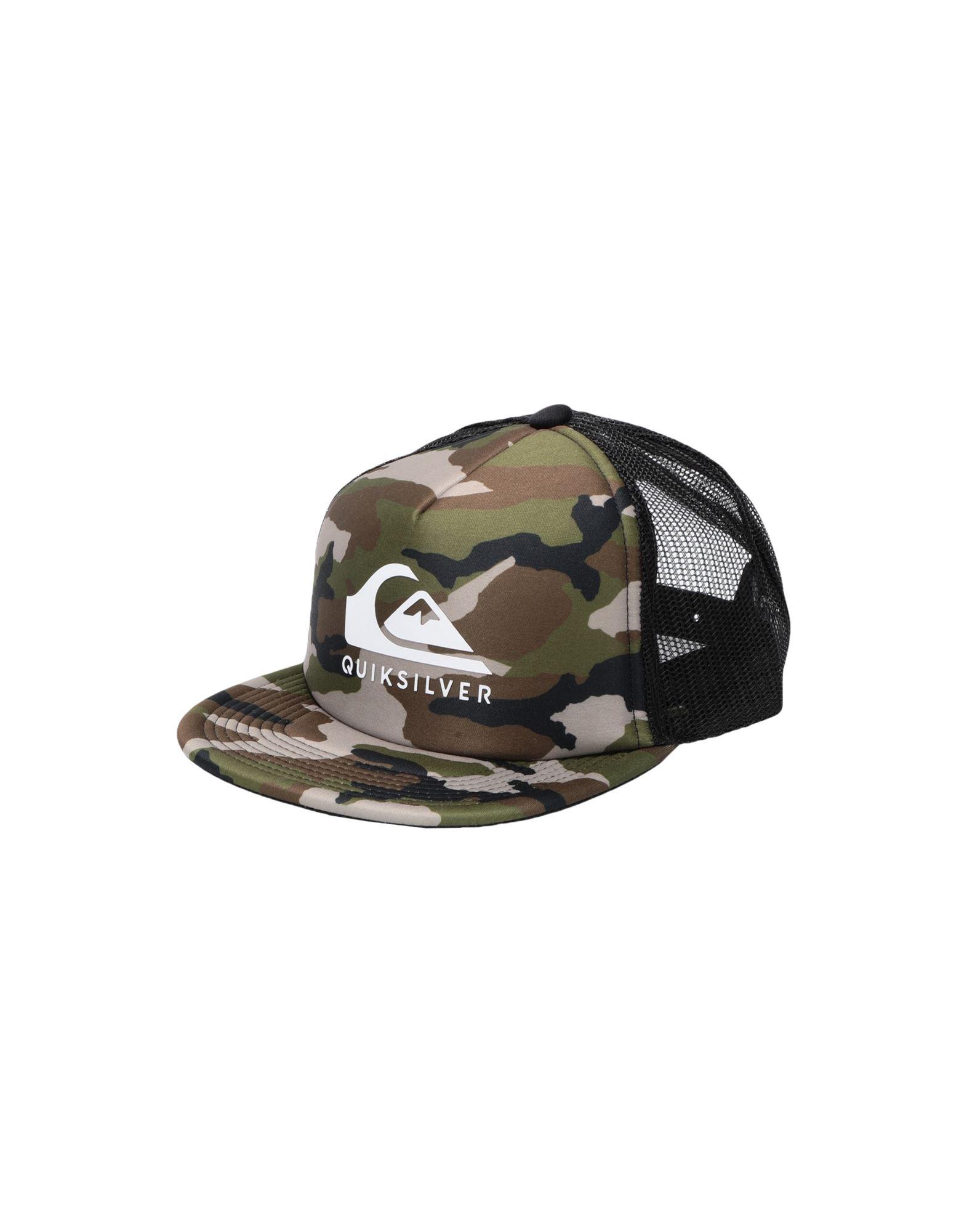 《セール開催中》QUIKSILVER メンズ 帽子 ミリタリーグリーン one size ポリエステル 100% QS Cappellino Foamslayer