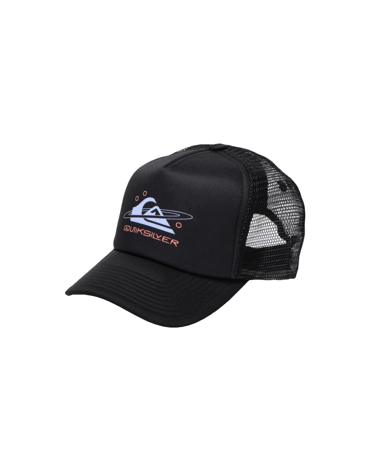 《セール開催中》QUIKSILVER メンズ 帽子 ブラック one size ポリエステル 100% QS Cappellino Filtration