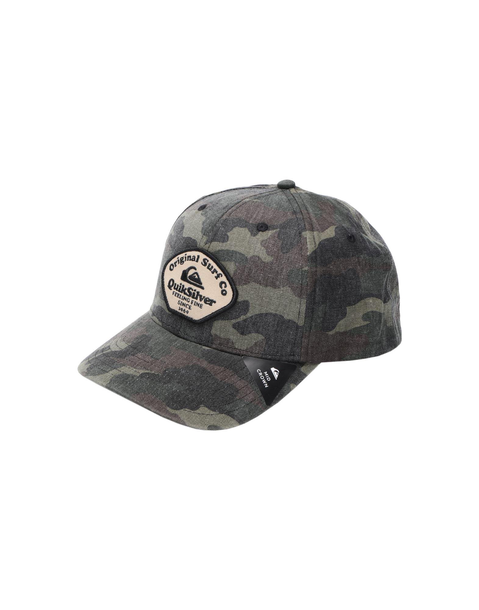 《セール開催中》QUIKSILVER メンズ 帽子 ミリタリーグリーン one size コットン 100%