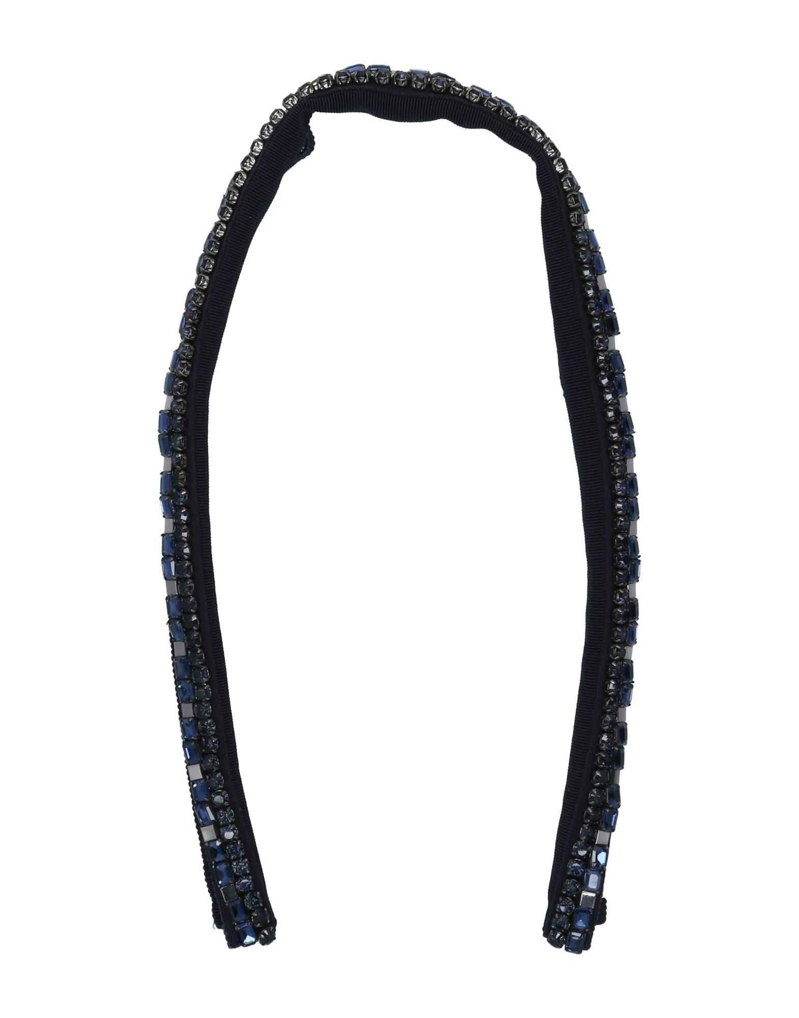 《セール開催中》'S MAX MARA レディース ネックカラー ダークブルー one size コットン 100% / レーヨン / ガラス / 金属