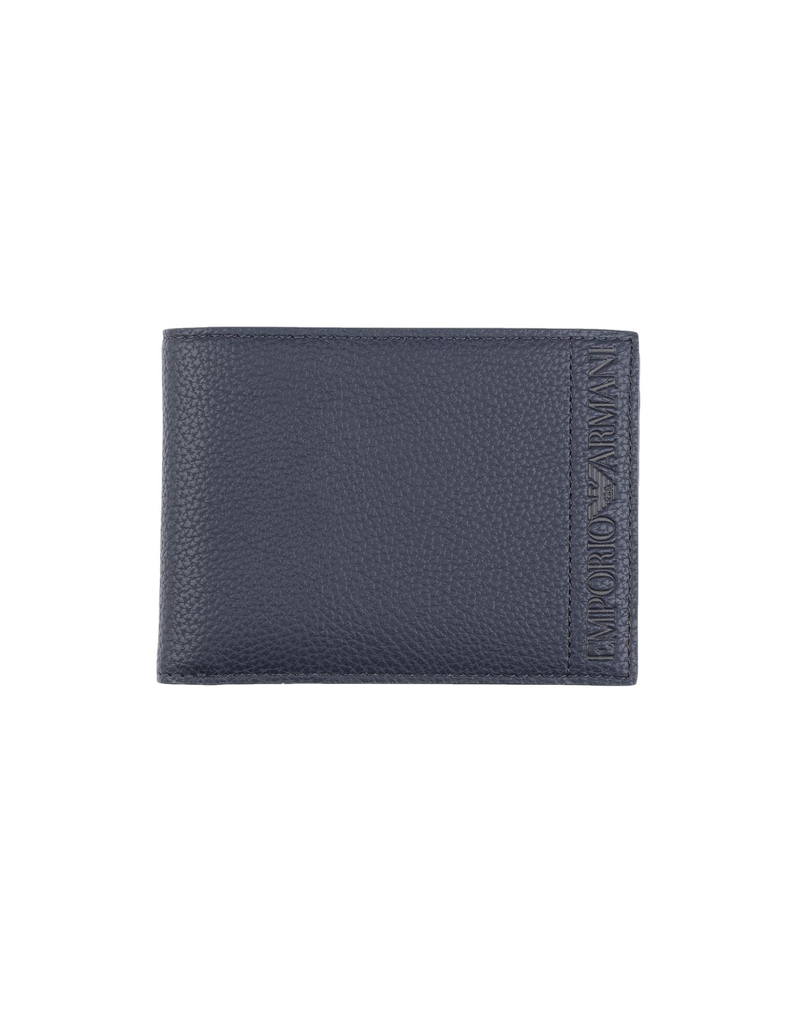 《セール開催中》EMPORIO ARMANI メンズ 財布 ダークブルー 紡績繊維