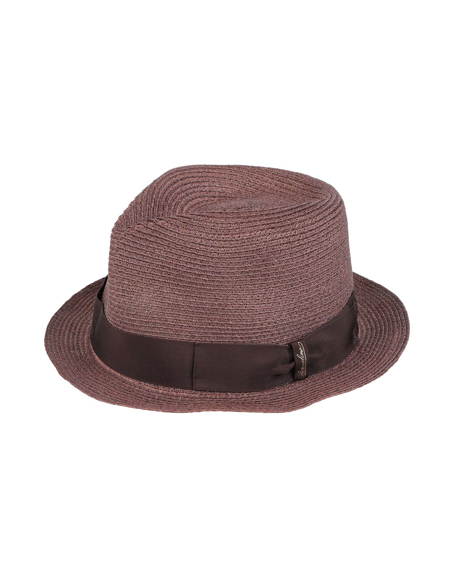 《セール開催中》BORSALINO メンズ 帽子 ココア 56 指定外繊維(ヘンプ) 100%