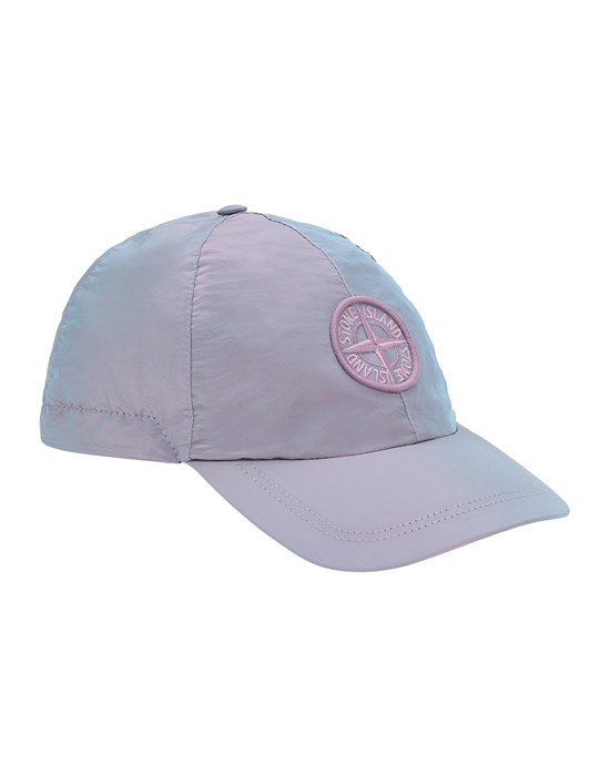 STONE ISLAND JUNIOR 90166 NYLON METAL Cap Man Turquoise