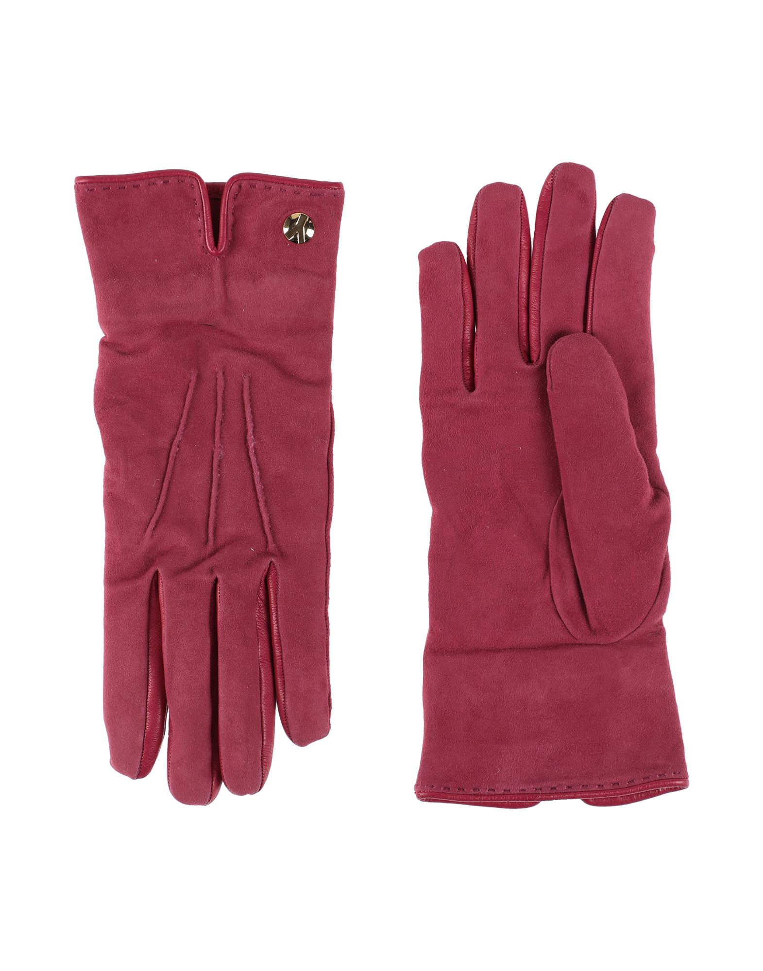Saint Laurent Gloves In Garnet