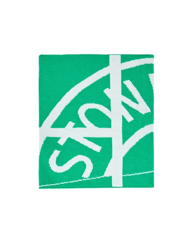 STONE ISLAND N22C7 WOOL NYLON MIXED YARNS WITH GRAPHICS Scarf Man Green EUR 159