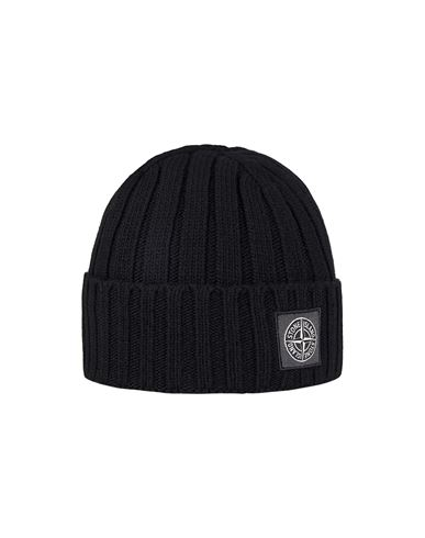 STONE ISLAND N24B5 GEELONG WOOL Hat Man Black USD 122