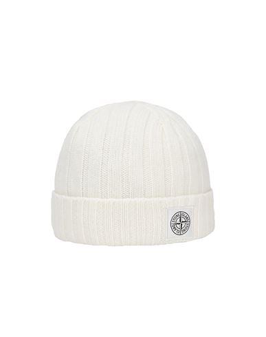 STONE ISLAND N24B5 GEELONG WOOL Hat Man Natural White EUR 119