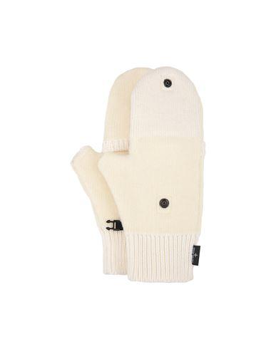 STONE ISLAND N07D9 MIXED YARNS Gloves Man Ivory EUR 189