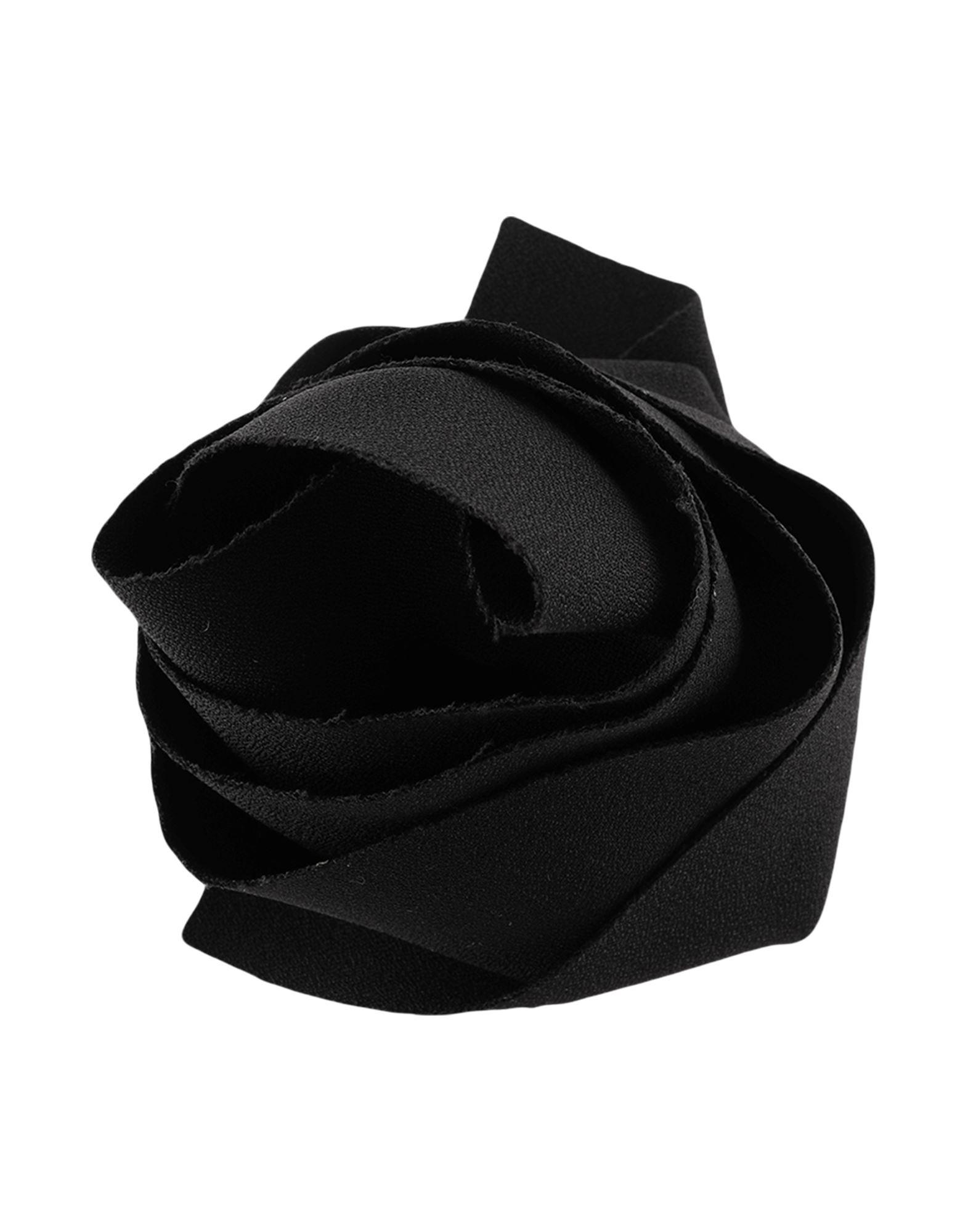 《セール開催中》MSGM レディース ブローチ ブラック ポリエステル 96% / ポリウレタン 4%