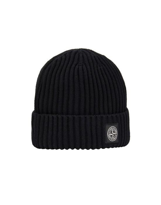 STONE ISLAND JUNIOR N07A5 Hat Man Black