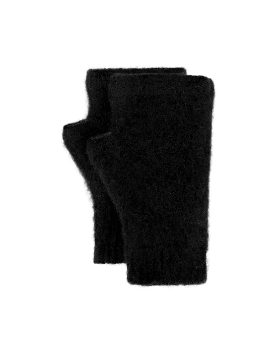 STONE ISLAND SHADOW PROJECT N03A4 WOOL/COTTON,VANISÉ, GAUZED OUTSIDE_ CHAPTER 1 & CHAPTER 2 Gloves Man Black