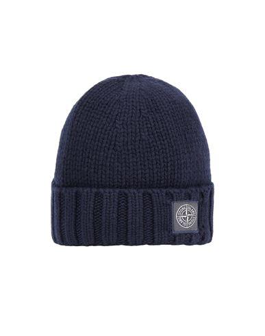 STONE ISLAND N17B6 GEELONG WOOL Hat Man Blue EUR 129