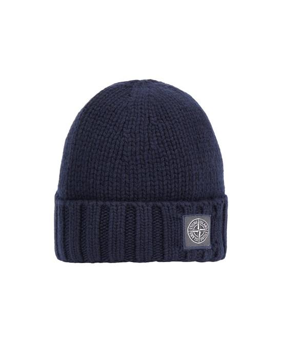 STONE ISLAND N17B6 GEELONG WOOL Hat Man Blue