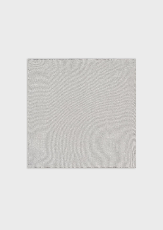 EMPORIO ARMANI Pure silk, striped pocket square
