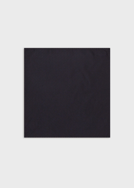 Se EMPORIO ARMANI Pure silk pocket square with diamond motif ved Armani