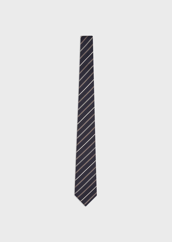 EMPORIO ARMANI Striped jacquard pure silk tie