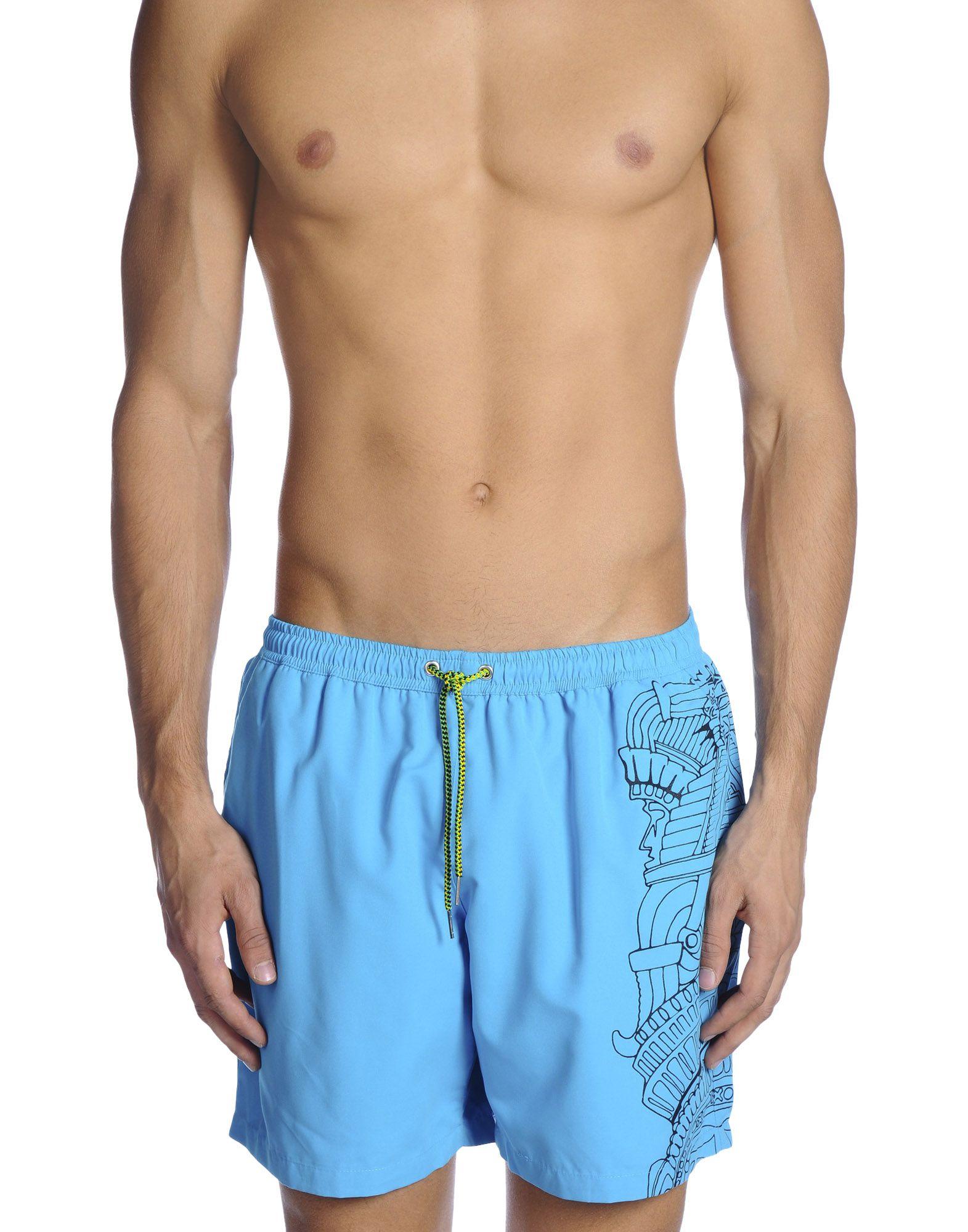《送料無料》U.T. WAVE メンズ 水着(ボクサーパンツ) アジュールブルー S ポリエステル 100%