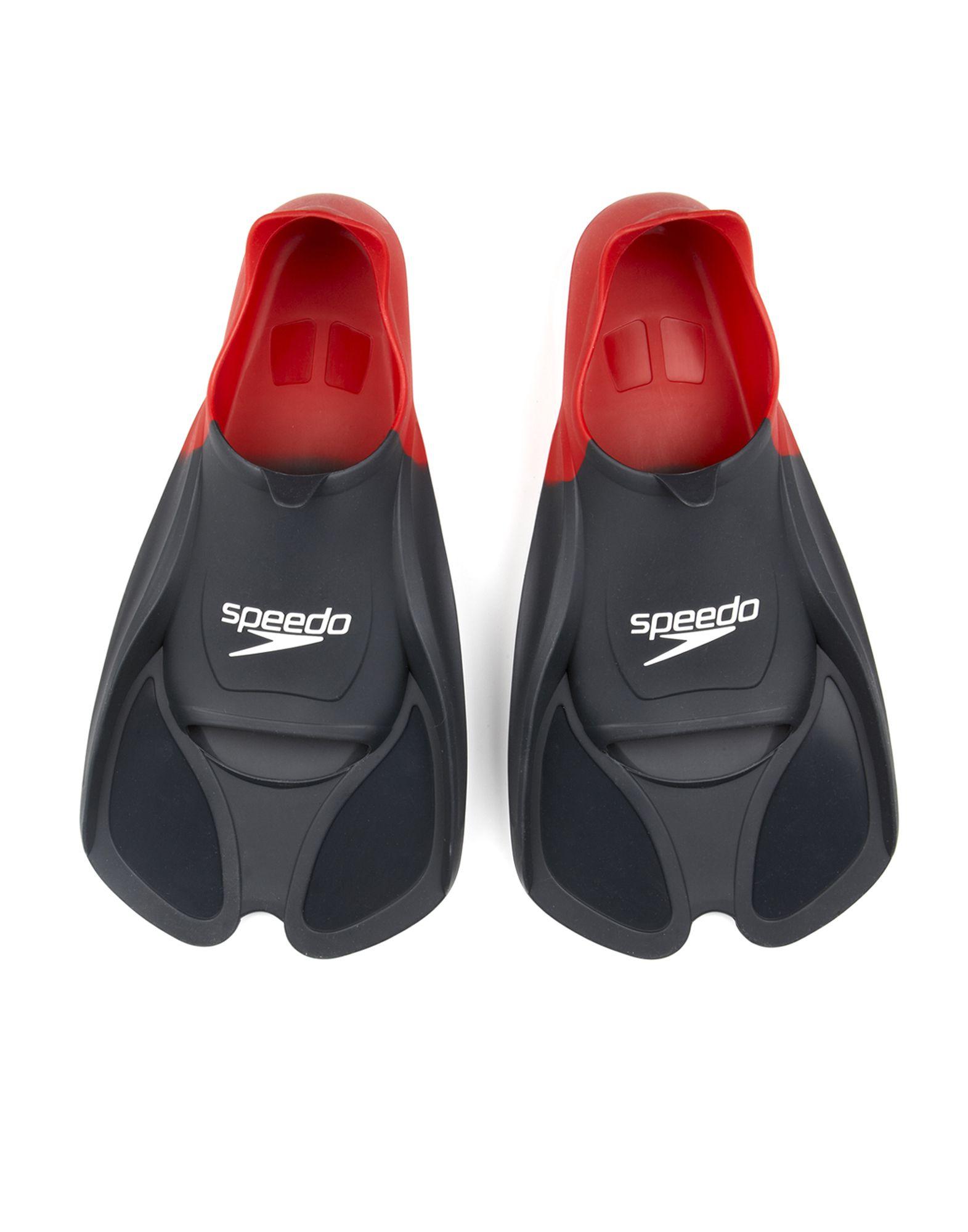 《期間限定 セール開催中》SPEEDO レディース 水泳用具 ブラック 35 ゴム BIOFUSE FIN AU RED/BLACK