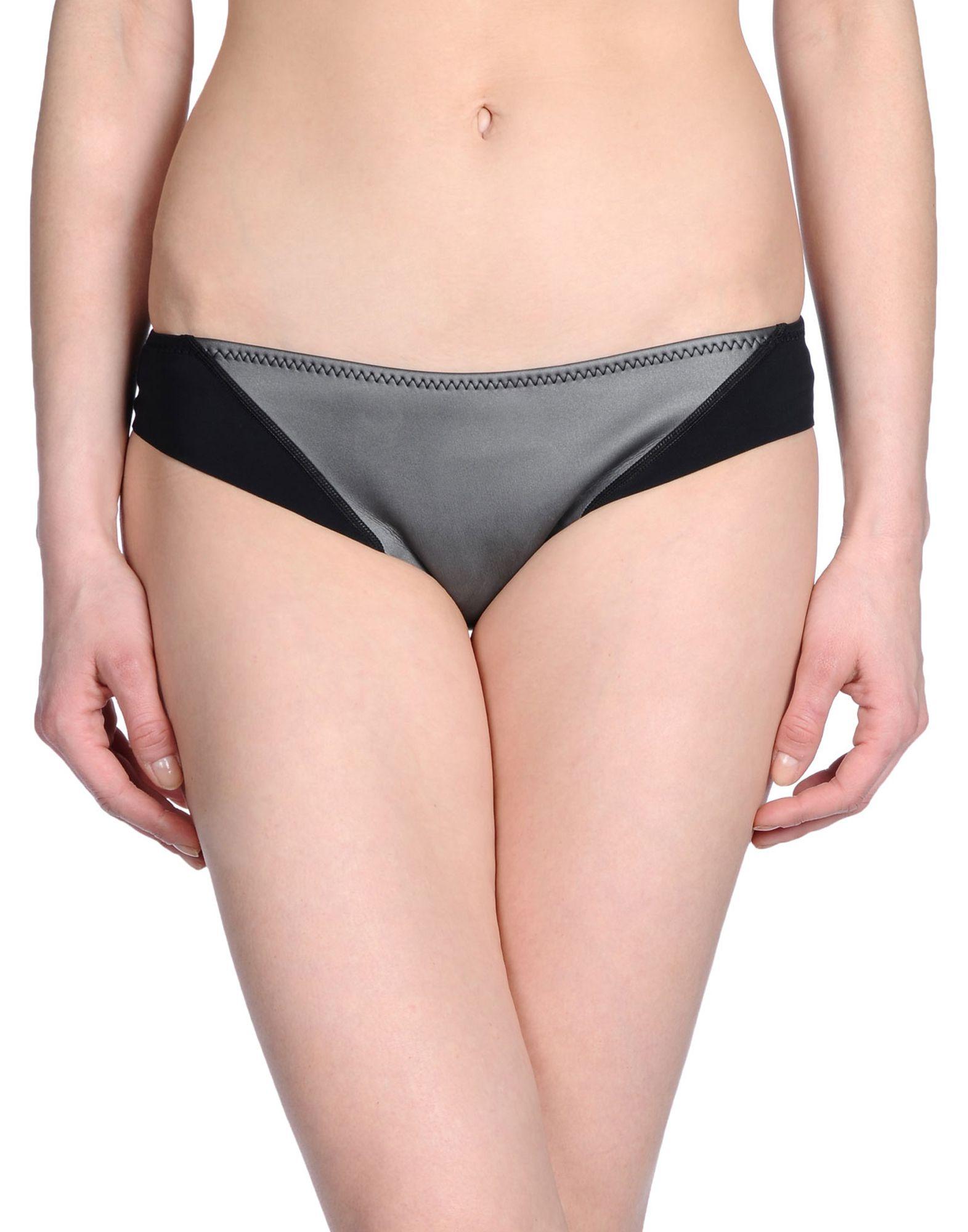 《セール開催中》DUSKII レディース 水着(ビキニパンツ) スチールグレー S ネオプレーン 80% / ポリエステル 10% / ナイロン 10% Aqua Safari cheeky bikini pant
