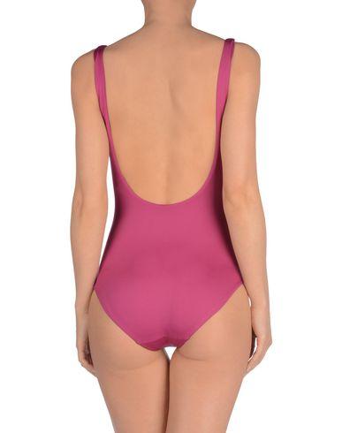 Фото 2 - Слитный купальник от ONIA розовато-лилового цвета