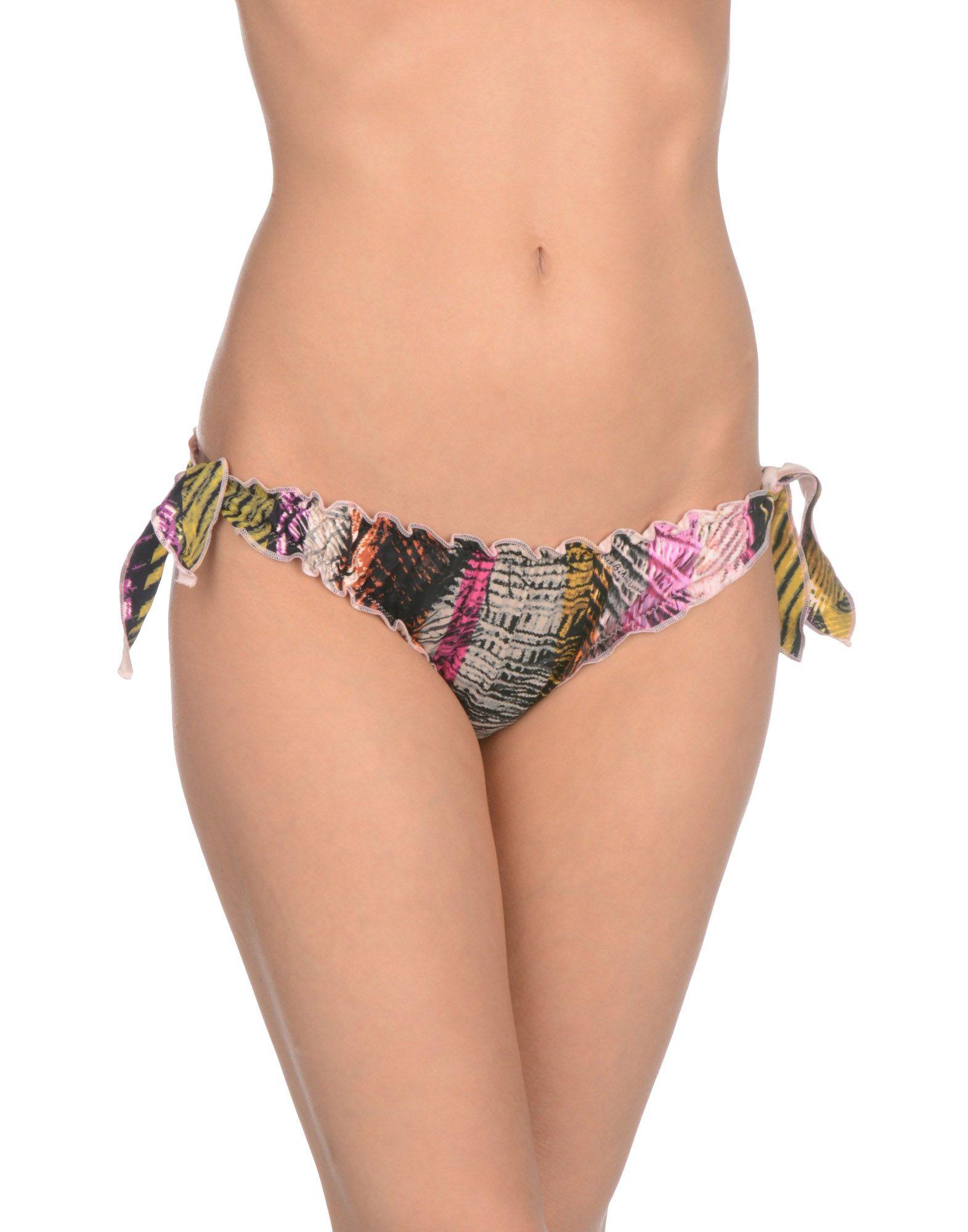 MISS BIKINI Плавки low waist flounce bandeau bikini set