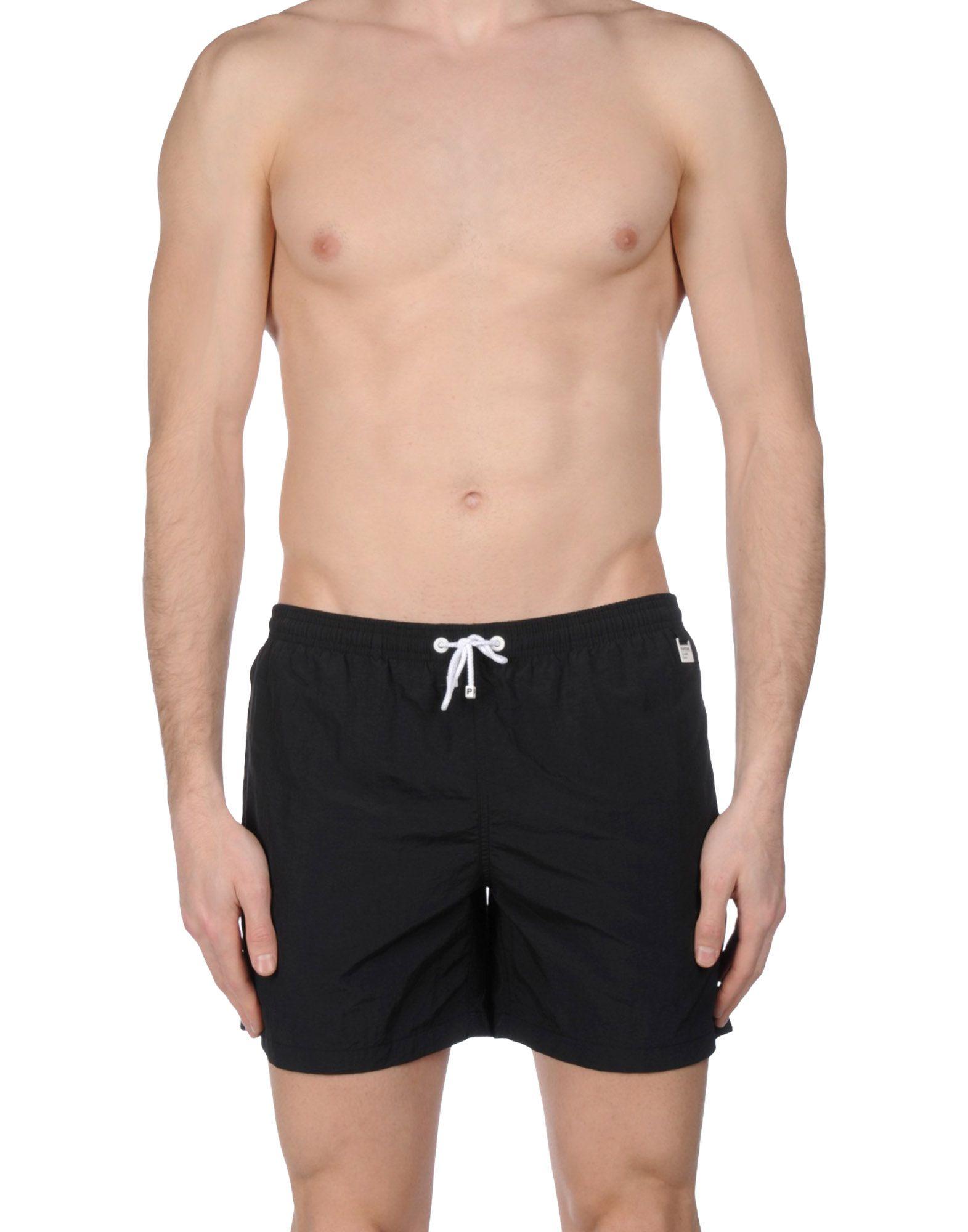 《送料無料》PANTONE UNIVERSE メンズ 水着(ボクサーパンツ) ブラック XL ナイロン 100%