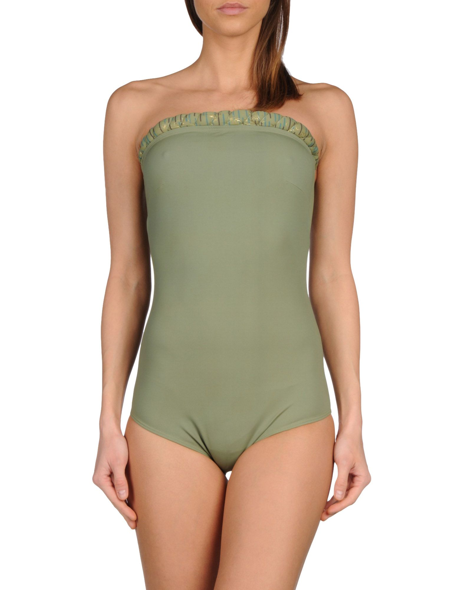 GOLDEN GOOSE DELUXE BRAND Damen Badeanzug Farbe Militärgrün Größe 5