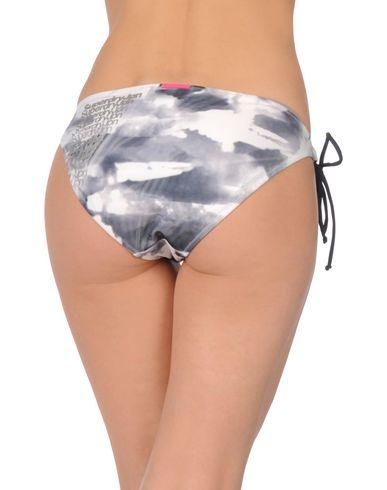 SUPERDRY Damen Badehose Grau Größe L 85% Polyester 15% Elastan