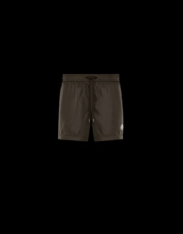 SWIM SHORTS Dark green Swimwear Man