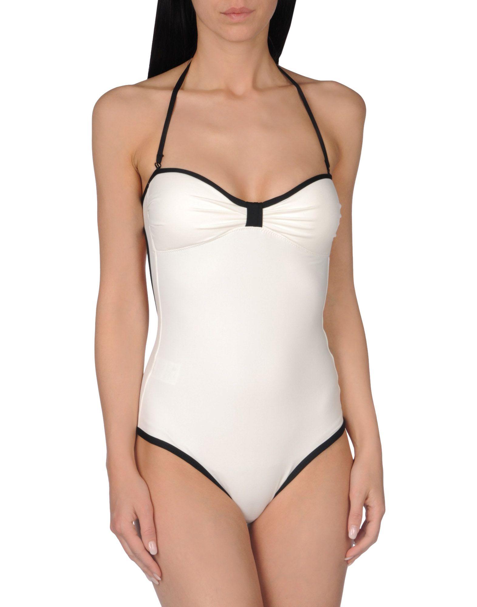 TOTON COMELLA - TCN Damen Badeanzug Farbe Weiß Größe 2