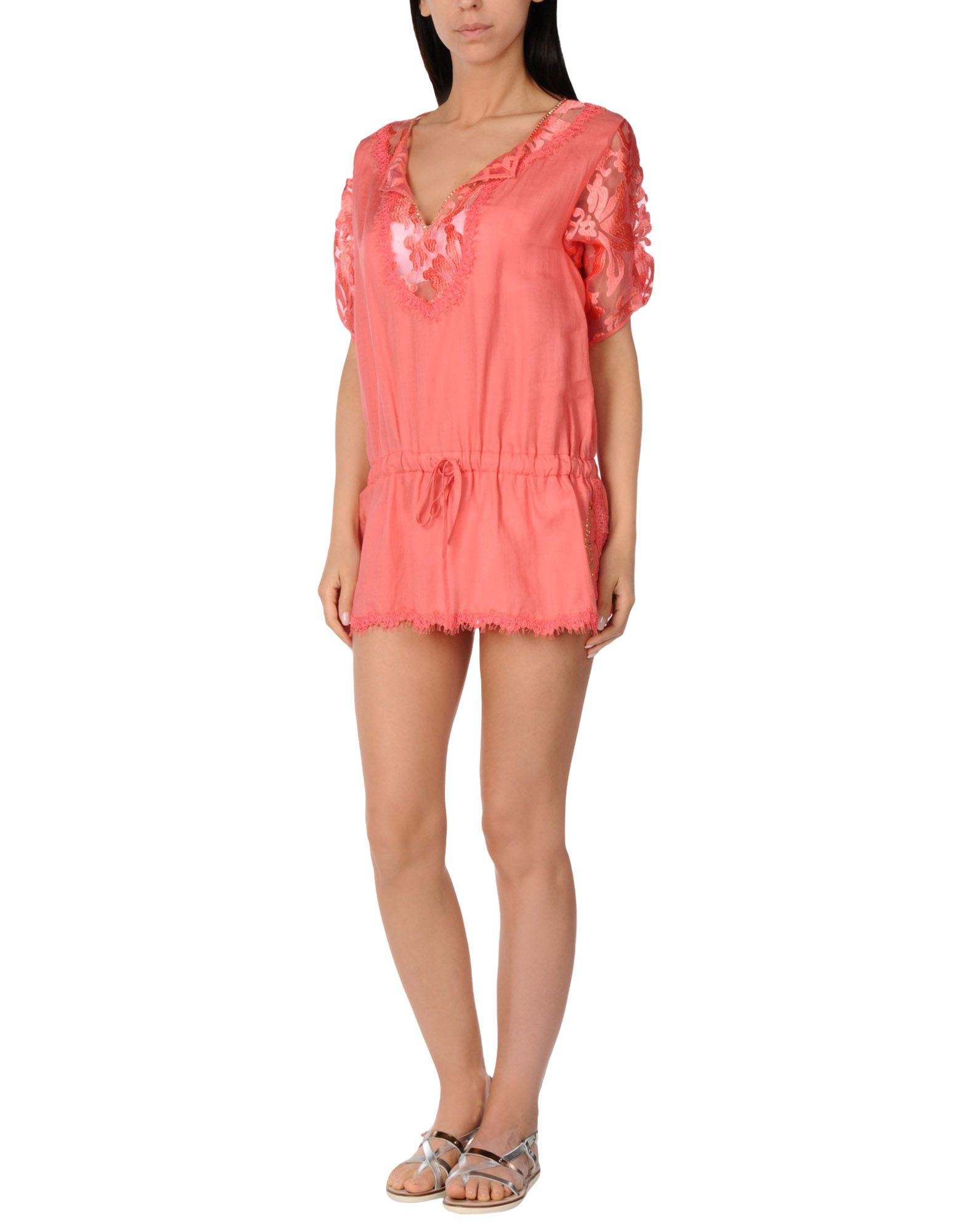 VDP BEACH Пляжное платье полуприлегающее платье с цветочным принтом vdp beach