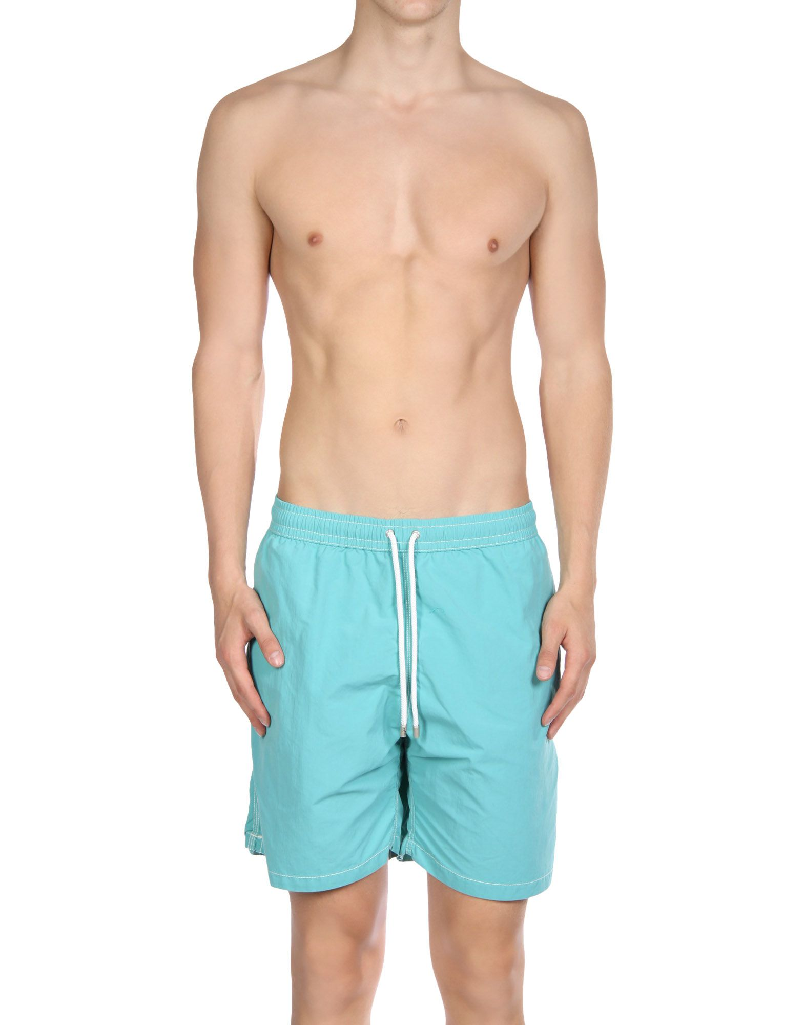HARTFORD Drawstring Swim Shorts in Light Green