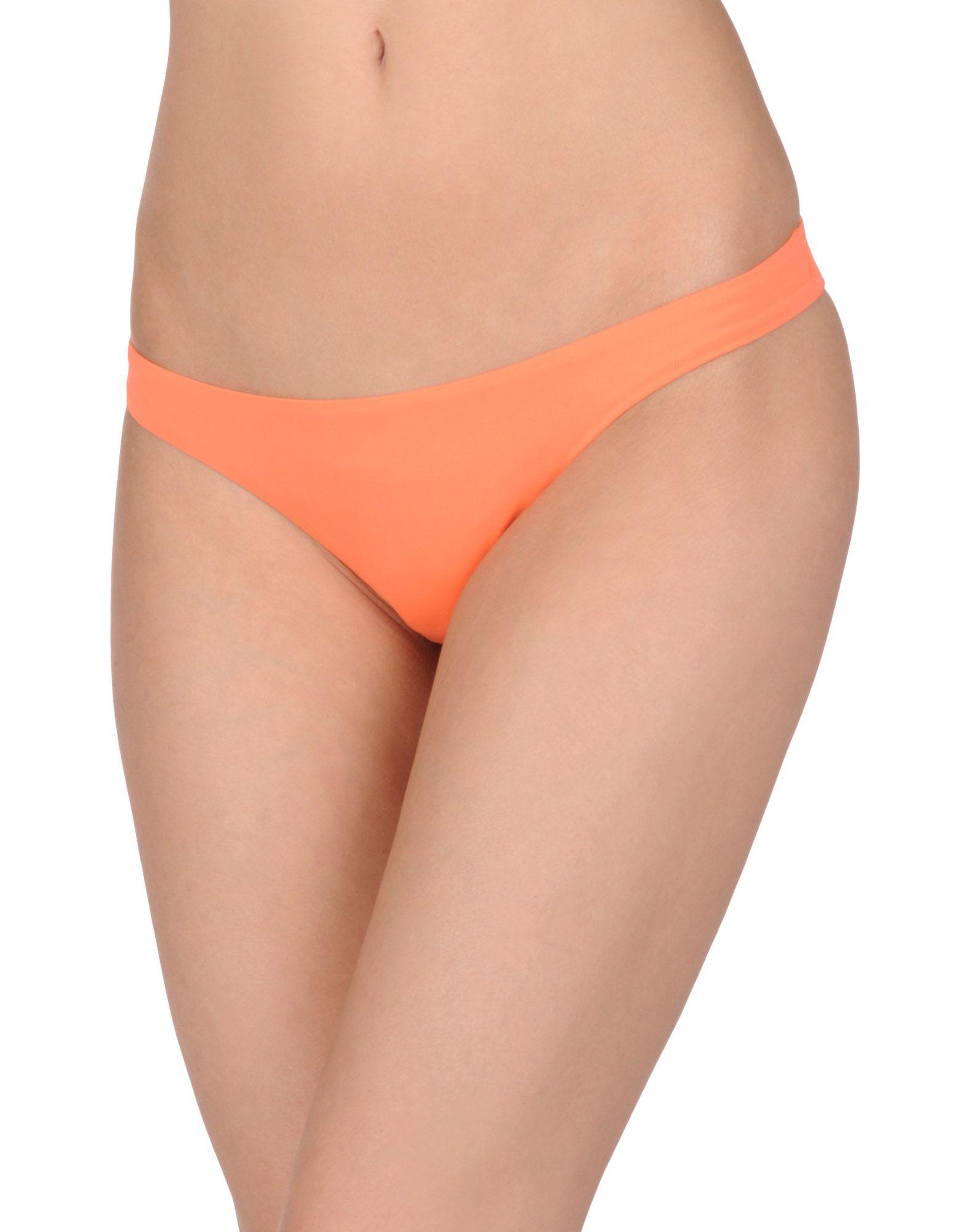 《セール開催中》MELISSA ODABASH レディース 水着(ビキニパンツ) オレンジ 10 ナイロン 86% / ポリウレタン 14%