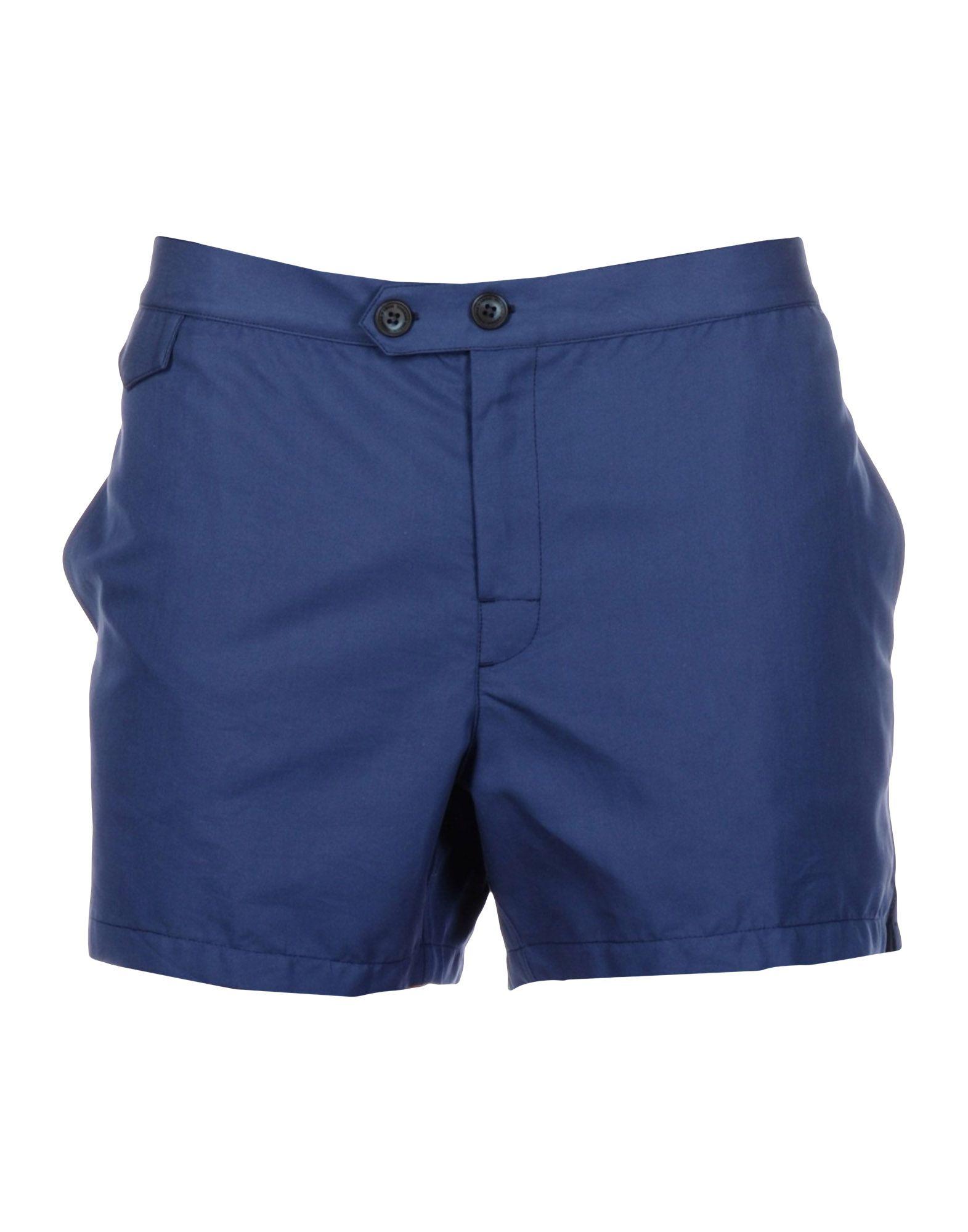 THOMAS MASON Swim Shorts in Slate Blue