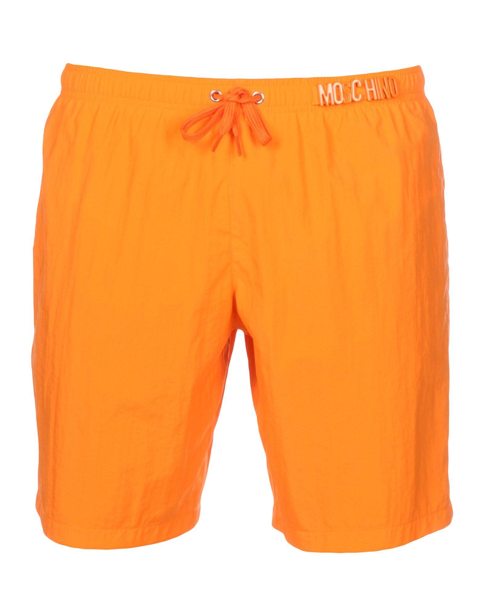 《セール開催中》MOSCHINO メンズ 水着(ボクサーパンツ) オレンジ XS ナイロン 100%