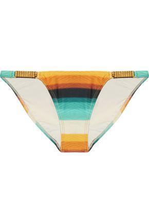 VIX Low-rise embellished dégradé bikini briefs