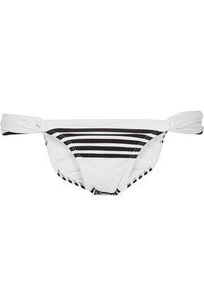 VIX Striped low-rise bikini briefs