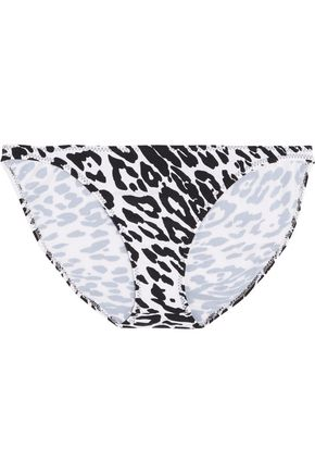 NORMA KAMALI Printed low-rise bikini briefs