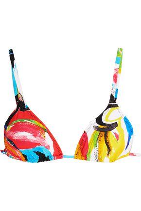 NORMA KAMALI Carmen printed triangle bikini top