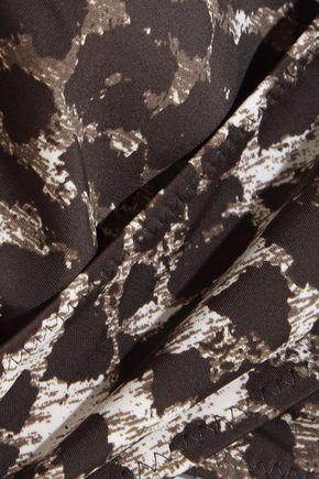NORMA KAMALI Mio cutout cheetah-print swimsuit