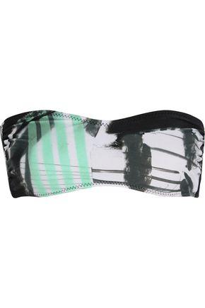NORMA KAMALI Sunglass printed bandeau bikini top