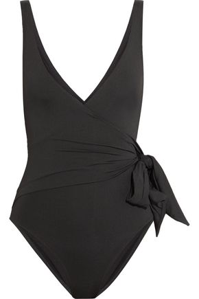 IRIS & INK Wrap-effect knotted swimsuit