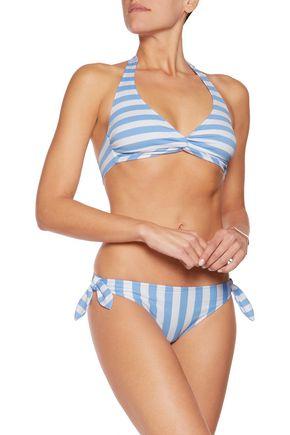 IRIS & INK Striped halterneck bikini