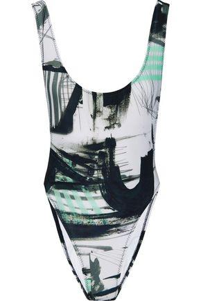 NORMA KAMALI Marissa printed swimsuit
