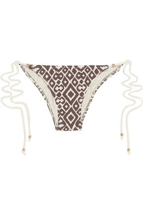 EBERJEY Ikat Love Kate low-rise printed bikini briefs