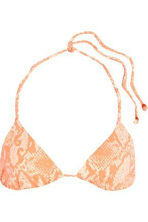 EBERJEY Sea Stripe reversible printed triangle bikini top