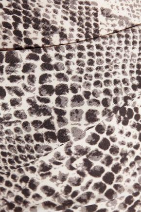 NORMA KAMALI Mio one-shoulder snake-print swimsuit