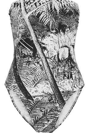 NORMA KAMALI Printed bandeau swimsuit