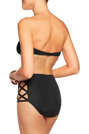NORMA KAMALI High-rise cutout bikini briefs